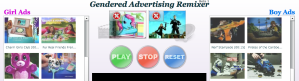 Screenshot of the Gendered Advertising Remixer