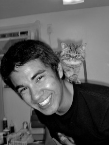 Sean & Jude via  Cute Boys With Cats