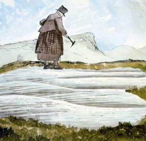 Portrait of Mary Anning by Henry De la Beche.
