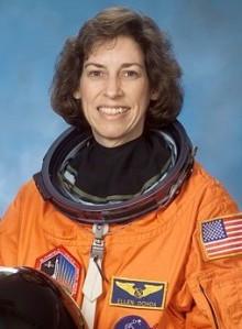 Ellen Ochoa portrait in spacesuit