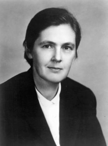 Black and white photograph of Frances Oldham Kelsey