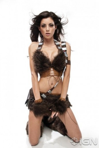 Lady Chewbacca costume