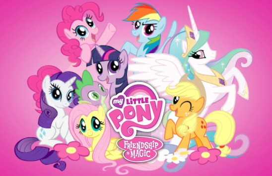 My Little Pony: Friendship is Magic promo image showing the main characters