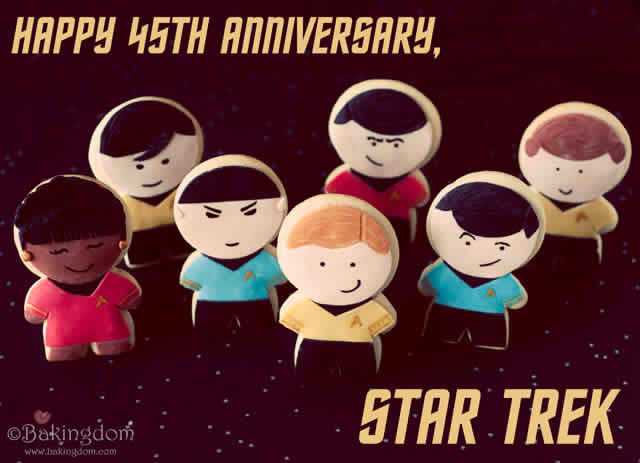 Star Trek Anniversary Cookies by Darla from http://bakingdom.com