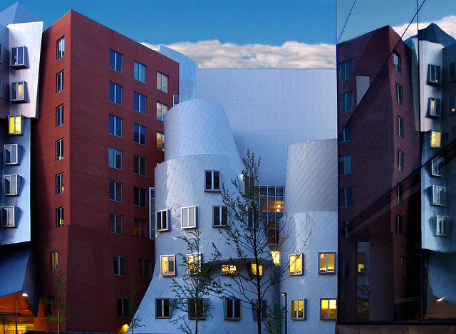Stata computer science building on the MIT campus