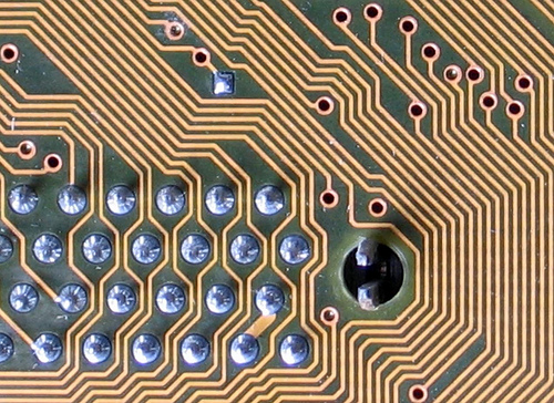 Detail of circuit board