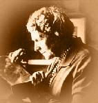 Annie Jump Cannon examining an object