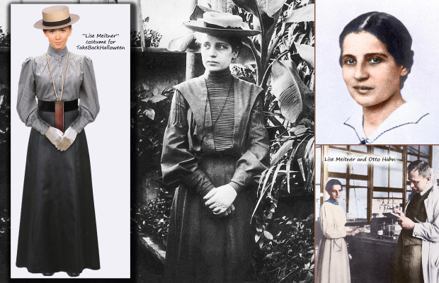 Lise Meitner costume from http://takebackhalloween.org/