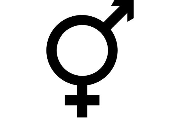 Transgender and intersex symbol comprising elements of both male and female symbols