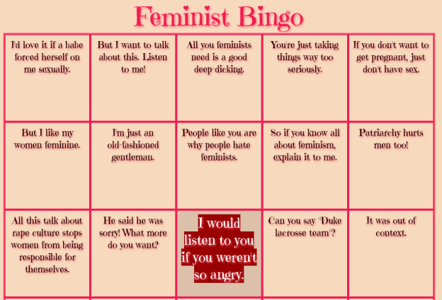 Interactive Feminist bingo screenshot