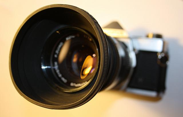 Photograph of camera by Elliot Bennett