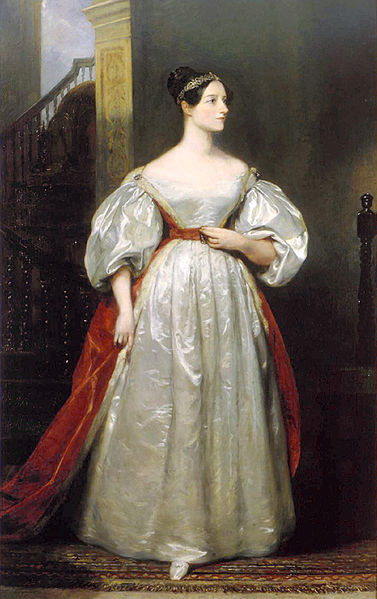 Ada Lovelace, 1836 portrait in oil by Margaret Sarah Carpenter
