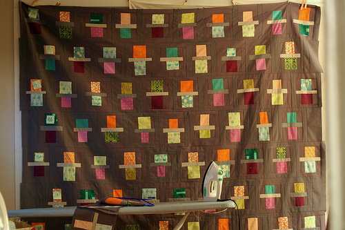"""""""fraction quilt — two rows to go"""" by r0ssie"""