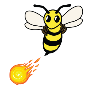 Firebee with fireball